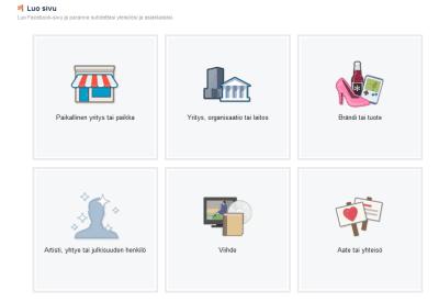 Luo Facebook-sivu yrityksellesi
