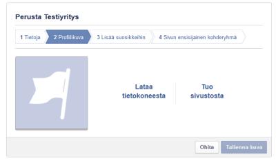 Lisää yrityksesi Facebook-sivuillesi profiilikuva