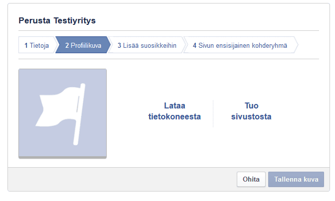 Facebook-sivut yritykselle