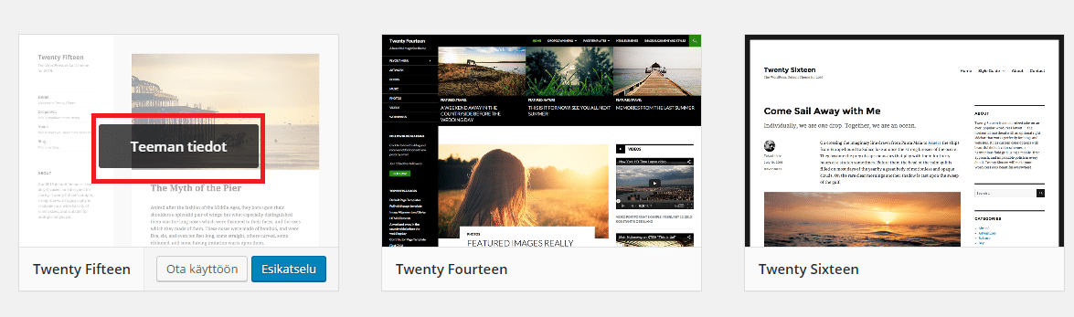 WordPress-teeman poistaminen