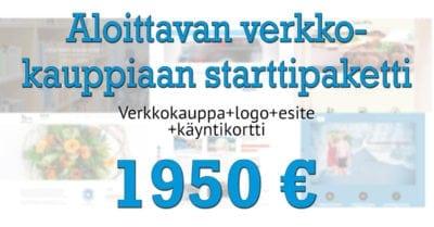 Aloittavan verkkokauppiaan starttipaketti hinta 1950€